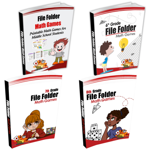 small resolution of Middle School + 6th Grade + 7th Grade + 8th Grade Books -  MathFileFolderGames.com