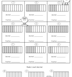 Decimal Worksheets using Tenths and Hundredths - Teacher's Take-Out [ 1320 x 1020 Pixel ]
