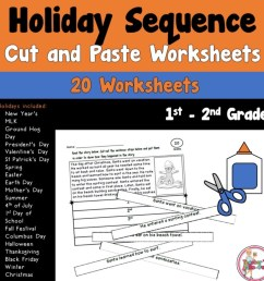 Holiday Sequence Cut and Paste Worksheets - Teacher's Take-Out [ 960 x 960 Pixel ]
