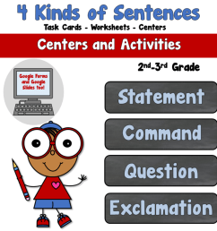 4 Kinds of Sentence (statement-question-command-exclamation) - Teacher's  Take-Out [ 960 x 960 Pixel ]