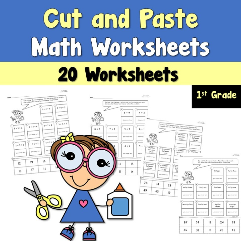 medium resolution of Cut and Paste Math Worksheets - Teacher's Take-Out