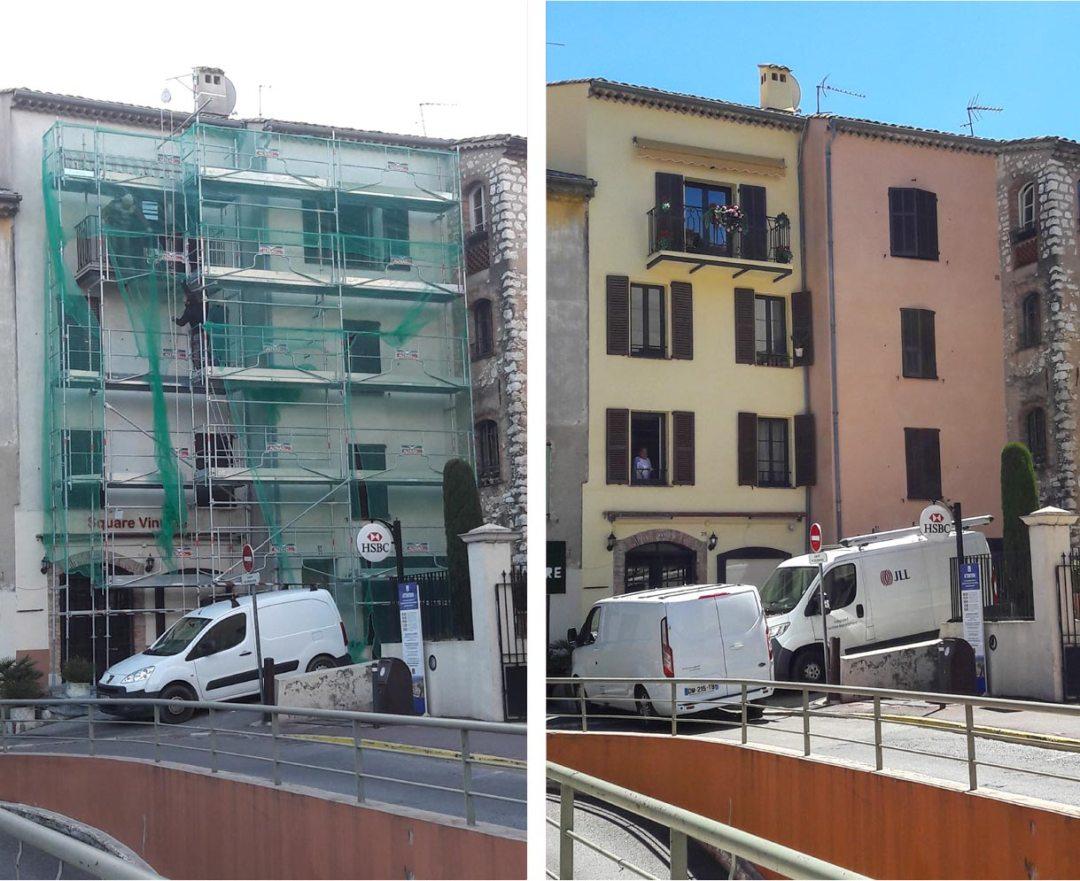 Rénovation façade travaux après