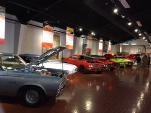 Muscle Car exhibit at the Gilmore Car Museum