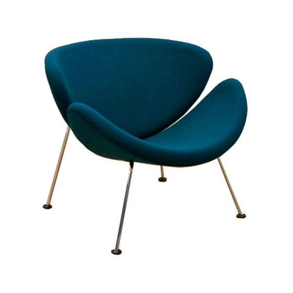 orange slice chair stacking sling chairs patio pierre paulin petrol f437 semaine
