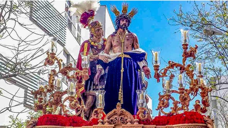 Jesús Despojado en su salida procesional de 2019