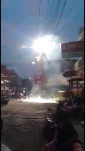 Trafo Meledak di Pandean Kaliwungu