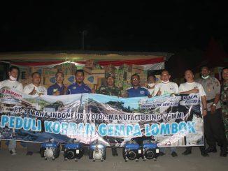 bantuan Yamaha Peduli Korban Gempa Lombok