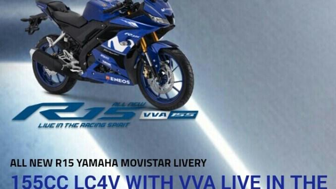 harga Yamaha New R15 VVA Livery Movistar MotoGP 2018