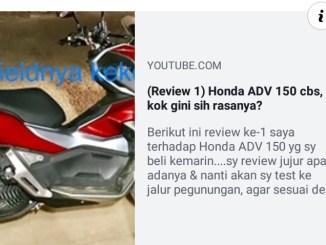 video review kekurangan honda adv150 youtube