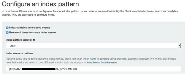 Enter Kibana Index-Pattern