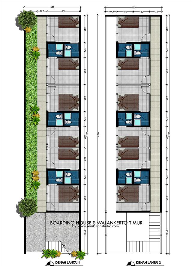 Desain Rumah Kos Kosan Yang Sehat : desain, rumah, kosan, sehat, Gambar, Disain, Rumah, Bangunan:, Desain, Kosan