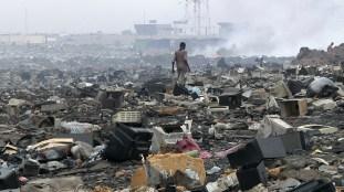 Basura electrónica en Ghana