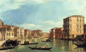 Canaletto, El Gran Canal entre el Palazzo Bembo y el Palazzo Vendramin