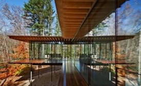 Casa de vidrio y madera, Kengo Kuma