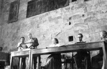 Helena Syrkusowa, con Le Corbusier, Giedion y Sert