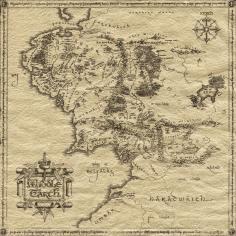 Mapa de la Tierra Media, J. R. R. Tolkien