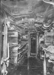 U Boat alemán 1918. Compartimento con literas
