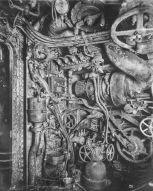 U Boat alemán 1918. Sala de motores