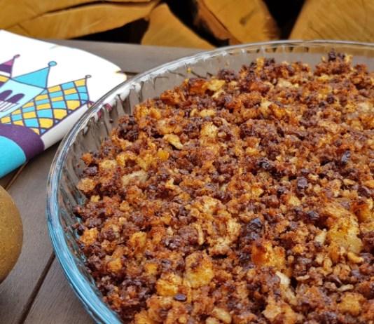 CRUMBLE DE PERA Y CHOCOLATE