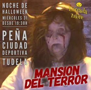 Cartel de la Mansión del terror en la Peña ciudad Deportiva 2018