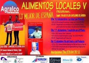 Cartel Feria de alimentos locales Agreda 2018