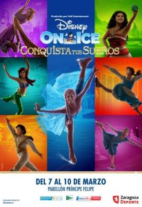 Cartel disney On ice Zaragoza marzo 2019