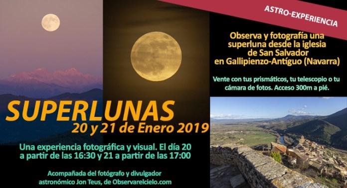 Observación de superlunas en Gallipienzo