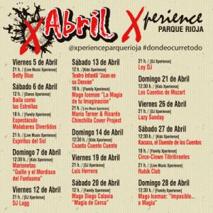 Cartel Abril Xperience Parque Rioja