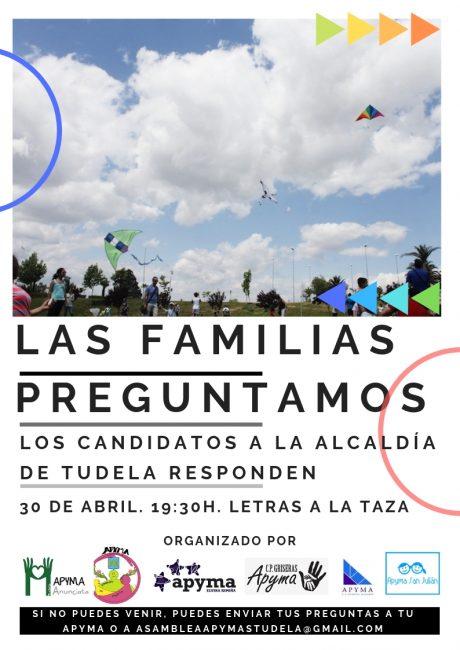 Cartel encuentro familias con candidatos tudela