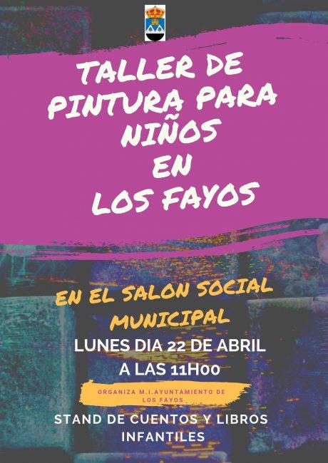 TALLER PINTURA PARA NIÑOS EN LOS FAYOS