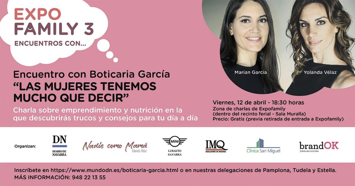 Cartel charla Boticaria García Pamplona