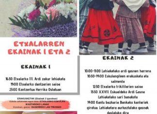 Cartel Feria Queso Etxalar 2019