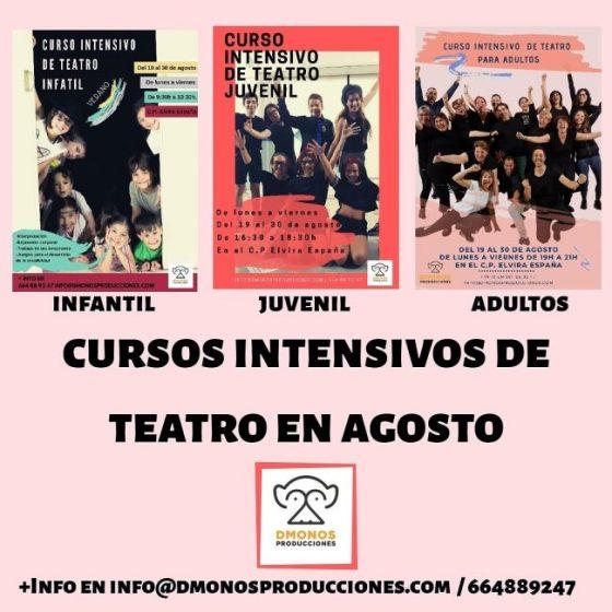 Cartel Teatro en Agosto 2019