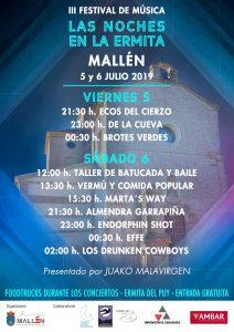 Cartel Las Noches de la Ermita Mallén 2019
