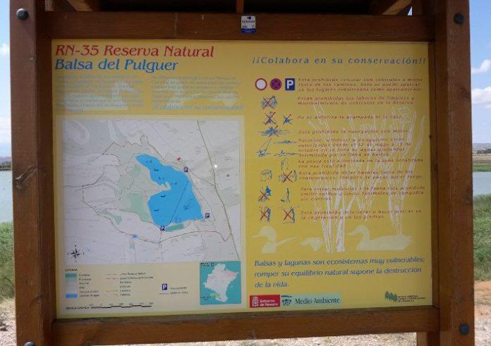 CARTEL INFORMATIVO PISCINAS NATURALES BALSA PULGUER