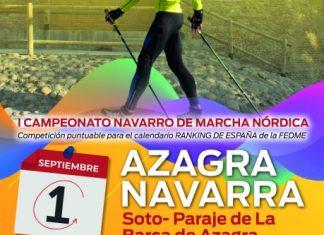 Campeonato navarro de marcha nórdica en Azagra