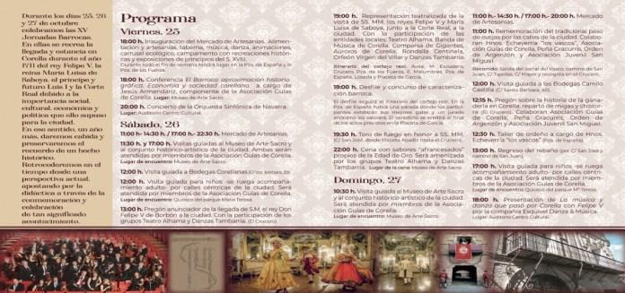Programa jornadas barrocas de Corella 2019