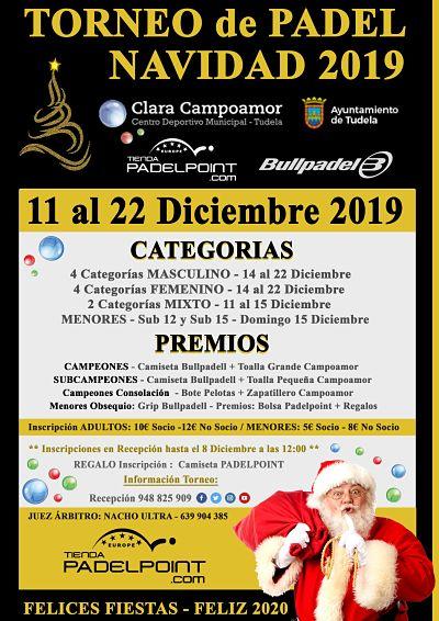 torneo pádel Navidad 2019
