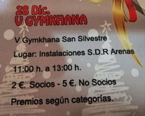 Gymkhana san silvestre Arenas