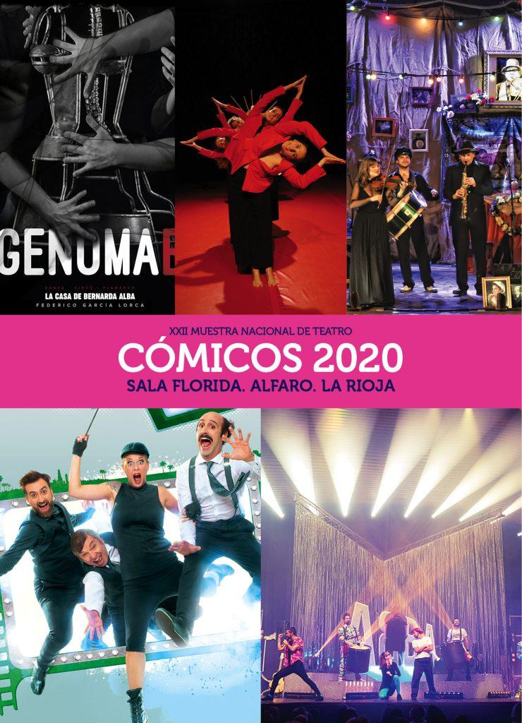 Muestra nacional de teatro Cómicos 2020 en Alfaro