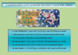 CALENDARIO teatro Valle del Ebro Caidos del cielo