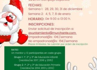 TALLERES EDUCATIVOS NAVIDAD 20-21 EN MURCHANTE