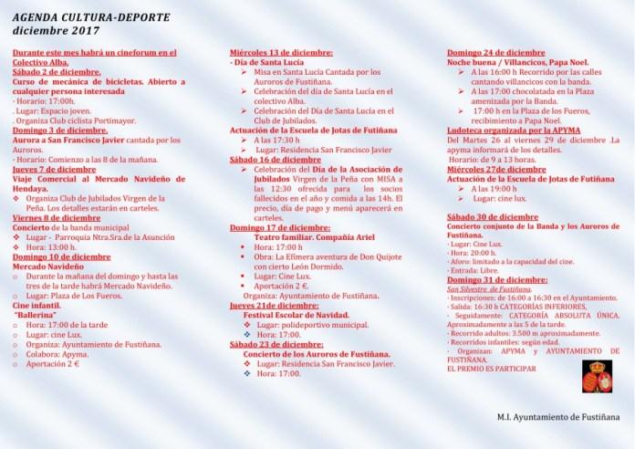 agenda diciembre Fustiñana