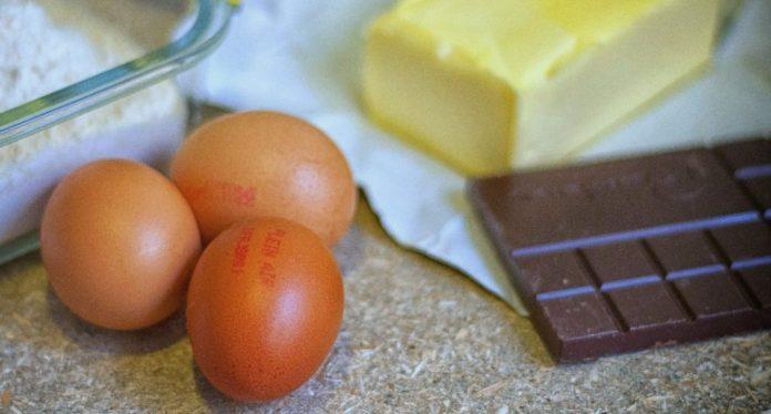 Ingredientes galletas de chocolate craqueladas
