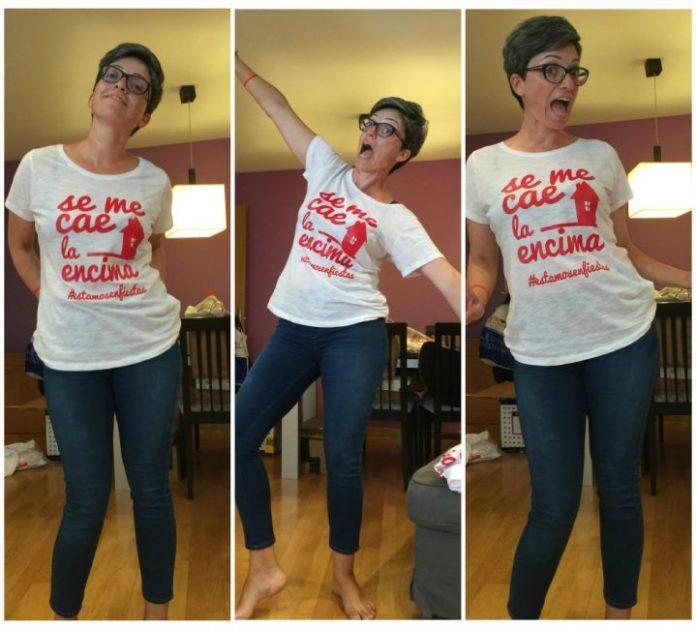 camisetas de fiestas se me cae mujer