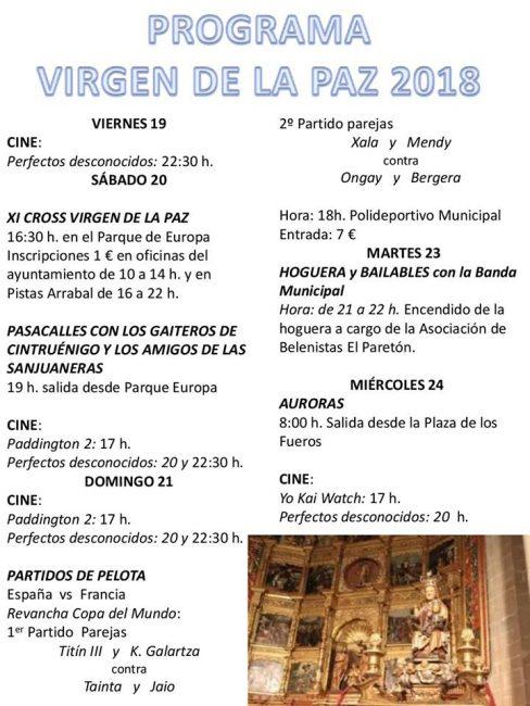 Fiestas de la Virgen de la Paz, en Cintruénigo