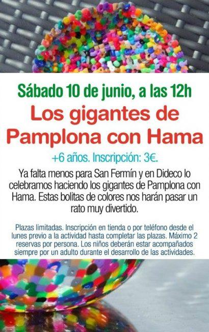Gigantes de Pamplona con Hama
