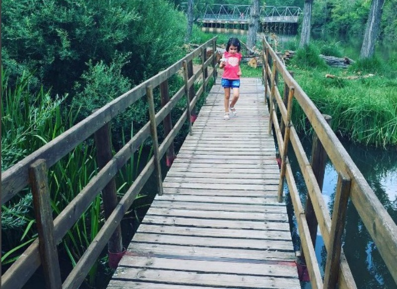 Pasarelas sobre las presas del Duero en el Sotoplaya