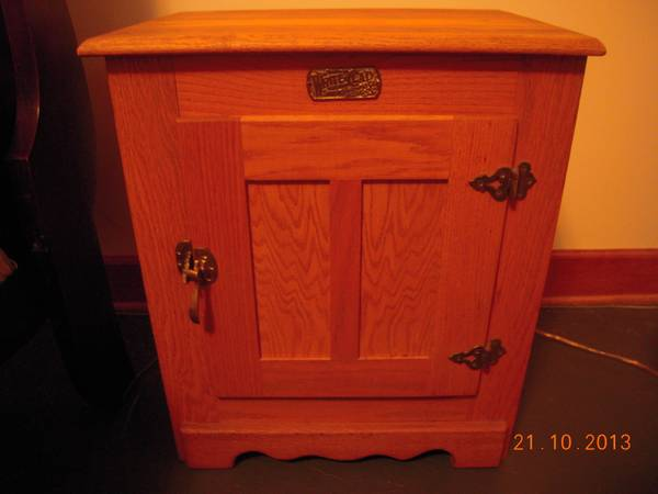 White Clad Ice Box Reproduction For Sale