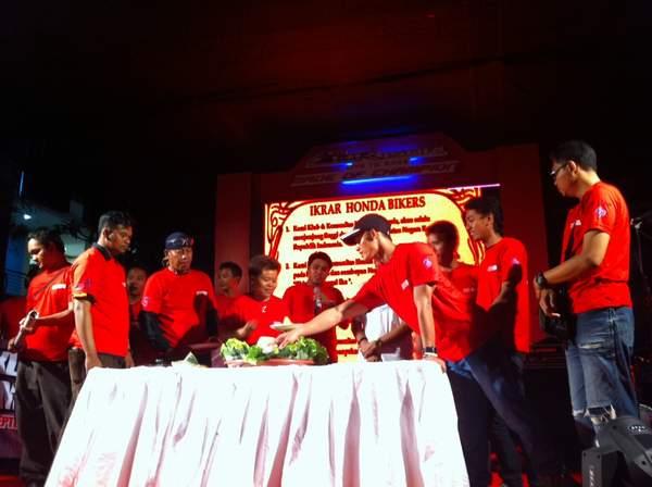 Prosesi Deklarasi Paguyuban Honda Community Bali